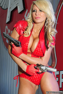 Busty Brooke in Red Latex - pics 04