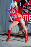 Busty Brooke in Red Latex - pics 07