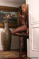Jeri Lee Fishnet Body Stockings - pics 04