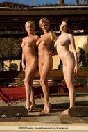 Fine Naked Babe Trio Outdoors - pics 09