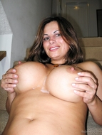 Awesome huge Boobed Milf cum - pics 14