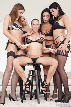 Mea Melone Banged by Four Ladies - pics 00