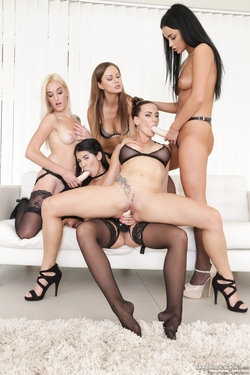 Mea Melone Banged by Four Ladies - pics 04