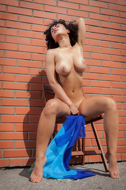 Busty Beauty Pammie Lee by the Wall - pics 02