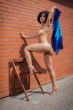 Busty Beauty Pammie Lee by the Wall - pics 04