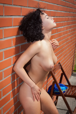 Busty Beauty Pammie Lee by the Wall - pics 10