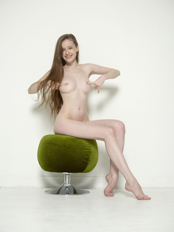 Sexy Emily Bloom on Pussy Pouffe - pics 14
