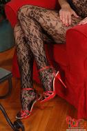 Gorgeous Pornstar Zafira Red High Heels - pics 01