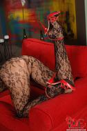 Gorgeous Pornstar Zafira Red High Heels - pics 05