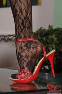 Gorgeous Pornstar Zafira Red High Heels - pics 09