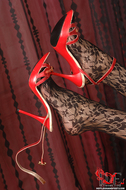 Gorgeous Pornstar Zafira Red High Heels - pics 13