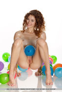 Oiled Beauty Adel with Balloons - pics 04