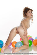 Oiled Beauty Adel with Balloons - pics 09