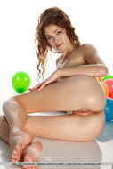 Oiled Beauty Adel with Balloons - pics 11