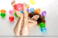 Oiled Beauty Adel with Balloons - pics 14