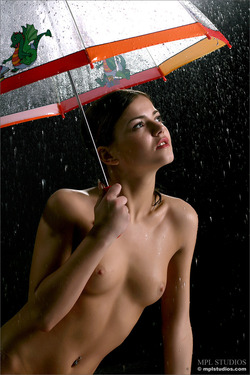 Skinny Sexy Teen with an Umbrella - pics 06