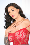 Busty Tera Patrick Red Lingerie - pics 04