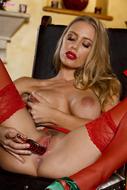 Sexy Nicole Aniston Red Lingerie - pics 11