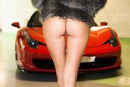 Sexy Teen Clover by my Ferrari - pics 01