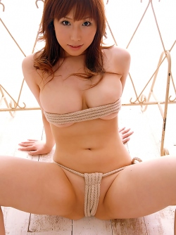 Big Breasted Young Asian Babe Ai Sayama Posing in Hot Bondage