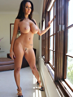 Big Boobed Pornstar Ava Addams Stripping Nude by the Window