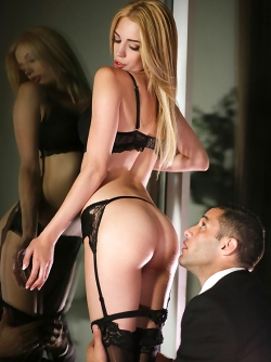 Beautiful Blonde Blake Eden is Enjoying Sex in Nylon Stockings