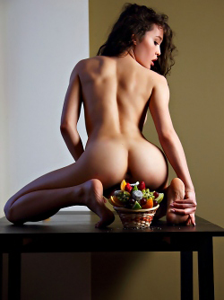 Sexy Uliana and her Fruit Basket