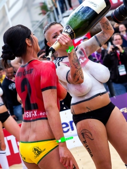 Busty Pornstars Beach Soccer Cup