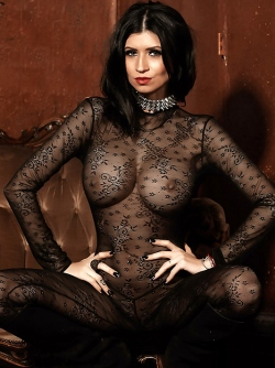 Incredibly Hot Sexbomb Lilly Roma in Body Stocking and Boots