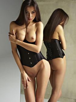 Nicolette Twins - Satin Corset Pics