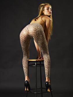 Skinny Blonde Thea: Leopard Legs