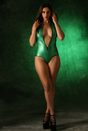 Skin tight and Shiny Green latex - pics 04