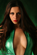 Skin tight and Shiny Green latex - pics 07