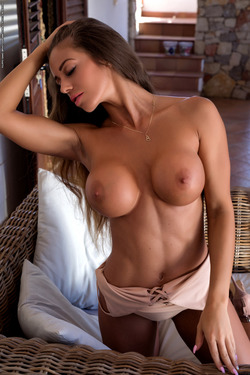 Big Boobed Isabelle Stripping Hot - pics 04