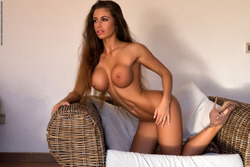Big Boobed Isabelle Stripping Hot - pics 12