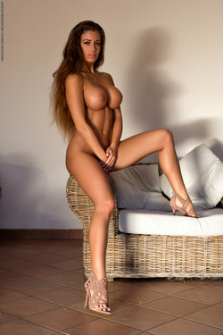 Big Boobed Isabelle Stripping Hot - pics 14