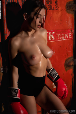Oiled Busty Beauty Paris - Stronger - pics 04