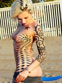 Awesome Tattooed Amateur Girl