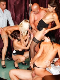 Striptease Turns Into Wild Orgy