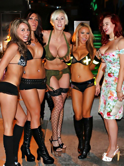 Party to the Playboy Mansion - Dangerous Big Boobed Action Girls