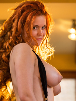 Superdoll with Big Fluffy red hair Lillith Von Titz - Fine Boobies