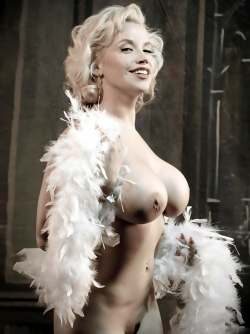 Big Titted Goddess Bianca Beauchamp in Marilyn Monroe Style