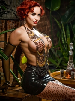 Dirty Bombshell Bianca Beauchamp in Skin Tight Latex and Fishnets