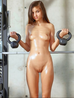 Cute Teen Nika and her Shiny Body