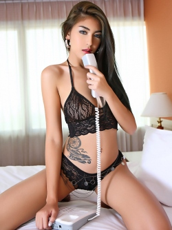 Beautiful Thai Kitten in Lingerie