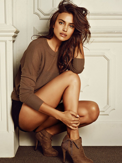 Incredibly Hot Model Irina Shayk looking so Gorgeous in Leather Boots