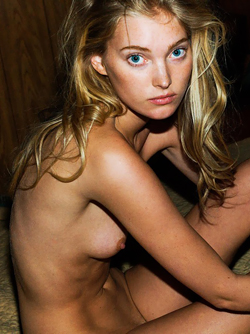 Blue Eyed Natural Beauty Elsa Hosk Pretty Face and Perky Titties