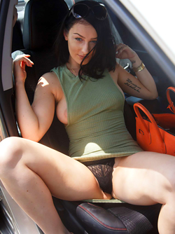 Tracy Maura, Green Eyed and Incredibly hot  Pussycat Public Nudity