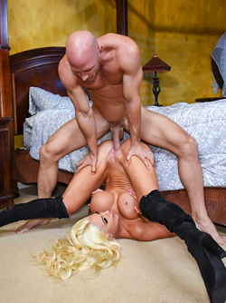 Beautiful Pornstar Nicolette Shea in Thigh Boots Nailed by a Hunk