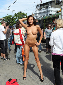 Magnificent Brunette Michaela Isizzu Loves Posing Nude in Public